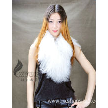Europe style for for Mongolian Real Fur Scarf Women Winter Wholesale Mongolian Lamb Fur Collar Scarf supply to Guyana Suppliers