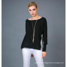 Lady′s Fashion Silk&Cashmere Blend Sweater 17brpv117