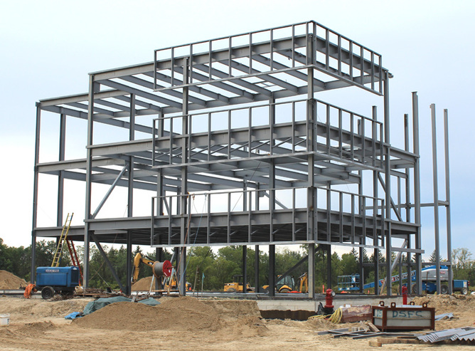 High-rise Steel Structure Construction for Shopping Center
