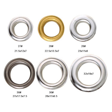 Metal Eyelets Grommet for Leather Crafts with Nickel Silver, Gold Color