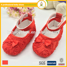 newest design newborn lovely satin lace baby girl dress shoes