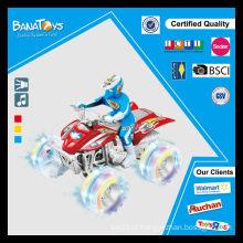 Fricção poder carro miúdo para carro e motocicleta com homem motocicleta cruz