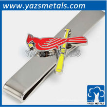 Kardinäle Krawatte Bar, maßgeschneiderte Metall Krawatte Clip mit Design