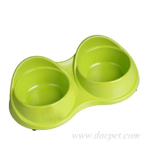 Anti slip anti overflow double dog bowl
