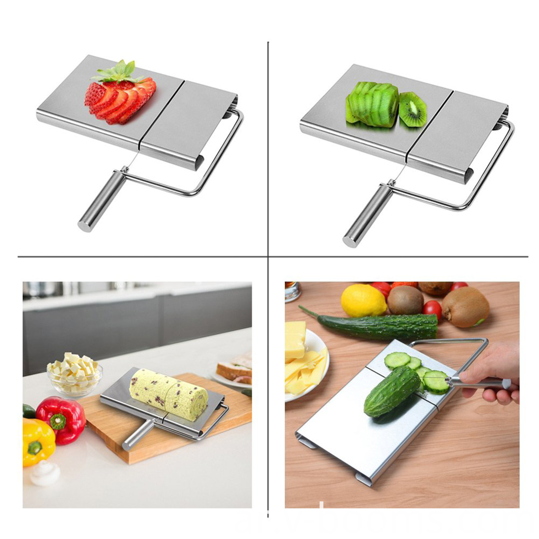Stainless Steel Wire Cheese Slicer With Board