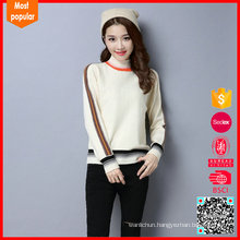Hot selling customized knitted wool sweater girls