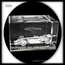 К9 3D лазерное подземных гоночный автомобиль внутри кристалла блок