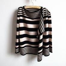 Chandail rayé tricoté de cardigan de dames acryliques de mode (YKY2012)