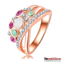 Bunte Opal Frauen Finger Ring 18k (Ri-HQ0002)