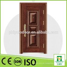 Diseño de puerta de acero de seguridad con clasificación de incendio único para decoración
