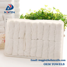100% cotton disposable Lemon scent airline hot towel in tray Lemon scent 100% cotton disposable airline hot towel in tray