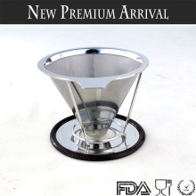 Novos produtos 2016 Reusable Pour Over Coffee Dripper, Paperless Coffee Dripper