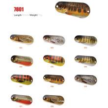 Design novo 60mm 15g iscas de colher de pesca
