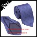 Blue Brown Striped Mens Jacquard 7 Fold Silk Tie