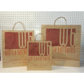 White & Brown Paper Counter Bags