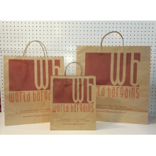 shopper in carta con logo