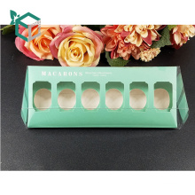 klassisches Design Pappschachtel für Süßigkeiten Cookies klar Macaron Box mit klarem Fenster