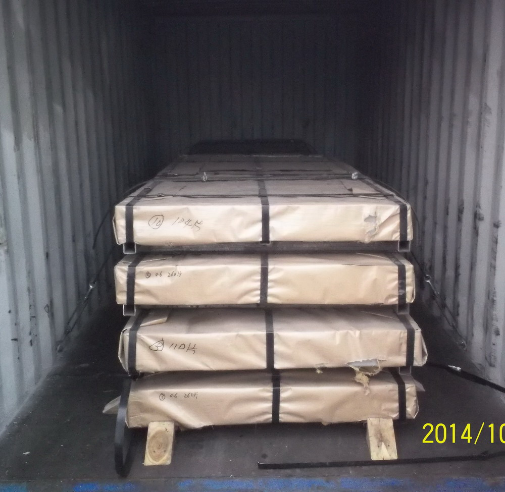 Cold rolled sheet in steel sheets on loading (4)