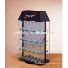 boîte de montre de sécurité en acrylique transparent avec serrure et clé