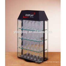 clear acrylic security watch box with lock and key