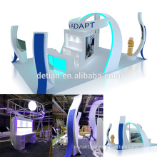 Detian offer island portable 6x9 exhibition stand trade show wood display