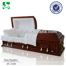 Highly standard solid wooden wholesale antique caskets