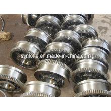 Roda dentada forjada em aço inoxidável com usinagem CNC