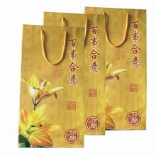 Saco de papel colorido para compras e promoção