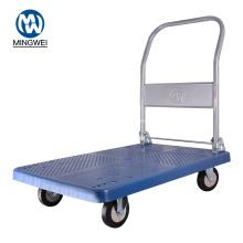 Chariot de chariot à plate-forme pliable bleu