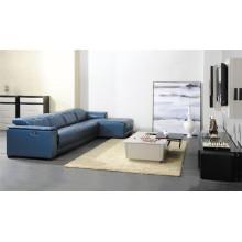 Красочный кожаный диван с низкой задней мебелью