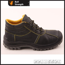 Genuine Leather Ankle Industrial Safety Shoe with Steel Toe (SN5268)