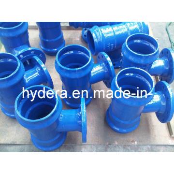 Raccord en fer ductile pour tuyau en PVC