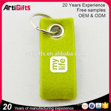 Hot sale customized cheap printed felt keyring
