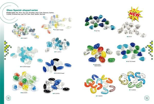 Special shape glass gems