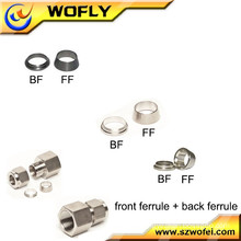 high pressure dual ferrules stainless steel tube compression fitting