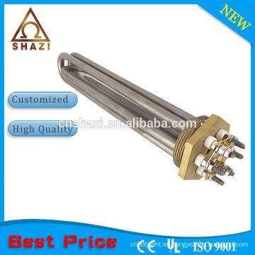 Tubular Industrial Calentador de agua eléctrico Elementos de calefacción con calentador de bronce de brida