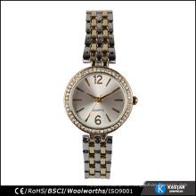 Zwei Ton-Uhrbandkristallgroßverkauf Genf-Uhrfrauen