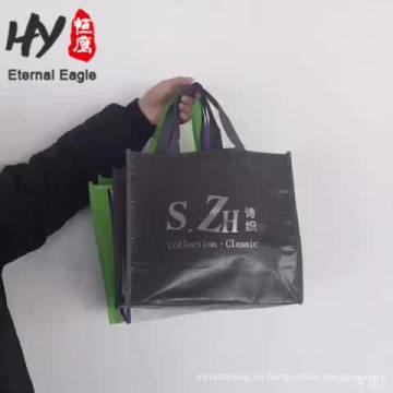 Portátil ligero bolso tejido con cuentas pp