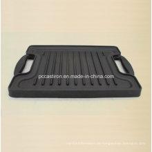 Gusseisen Griddle Pan Größe 27X21cm