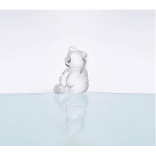 Glass Bear Shape Statue For Home Decoration
