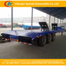 Multi Axles 20FT 20FT Low Flatbed Towing Semi Trailer Low Deck Trailer