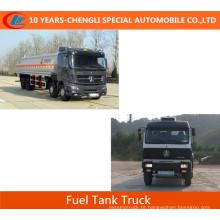 Caminhões de tanque de combustível de Beiben 8X4 / 336HP Caminhões de tanque de combustível