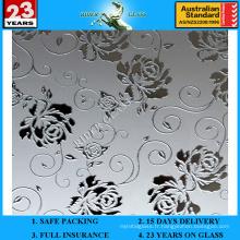 3-6mm Am-68 décoratif acide givré Art Architectural Miroir