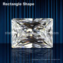 Rectangle Forme Baguette Princess Cut Cubic Zirconia