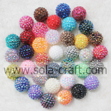 Fashion Mix couleur solide résine acrylique strass perles 18 * 20MM