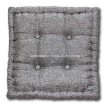 Metallic Silver 4 Buttons Floor Cushion (A21003)