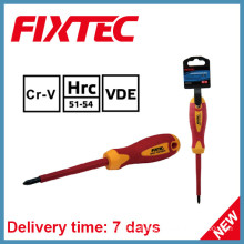 Fixtec Hand Tools 100mm Insulated Phillips Screwdriver with Insulation Handle