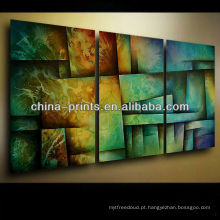 Pintura abstrata colorida na lona para a venda
