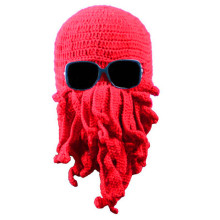 Crochet Octopus Hat Hand Knitted Crocheted Cthulhu Balaclava