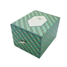 Green drawer cardboard tea box